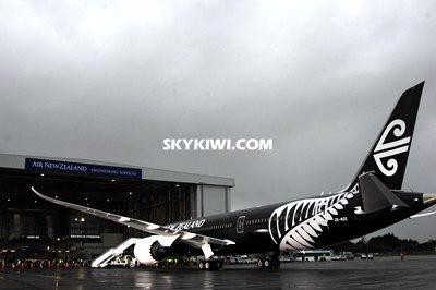 纽航迎首架波音787-9梦想客机