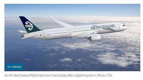 纽航一架昨日下午由奥克兰飞往惠灵顿的飞机在起飞后不久被迫飞回了奥