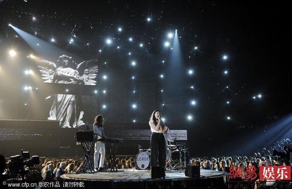 歌手Lorde格莱美现场-56届格莱美揭晓 新西兰创作才女Lorde成新宠
