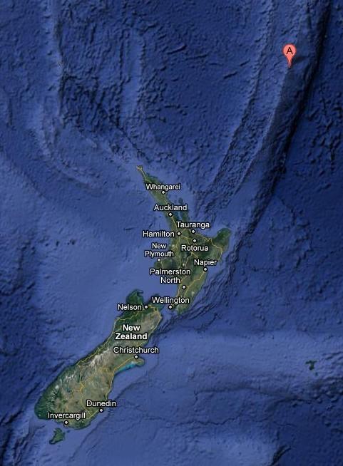 克马德克群岛海域发生7.6级地震