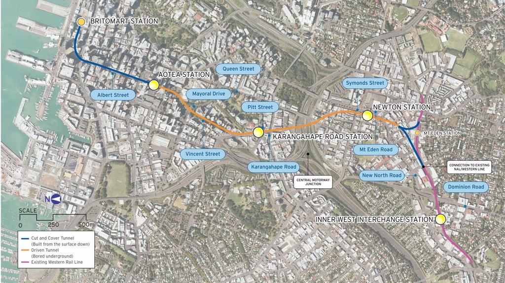 奥克兰铁路规划出炉 在地下45米连接周边铁路网