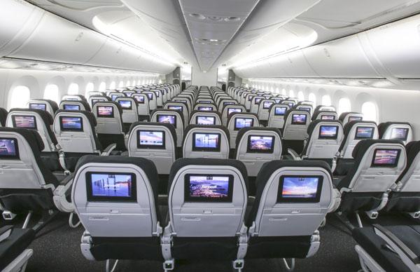 波音787飞机座位图