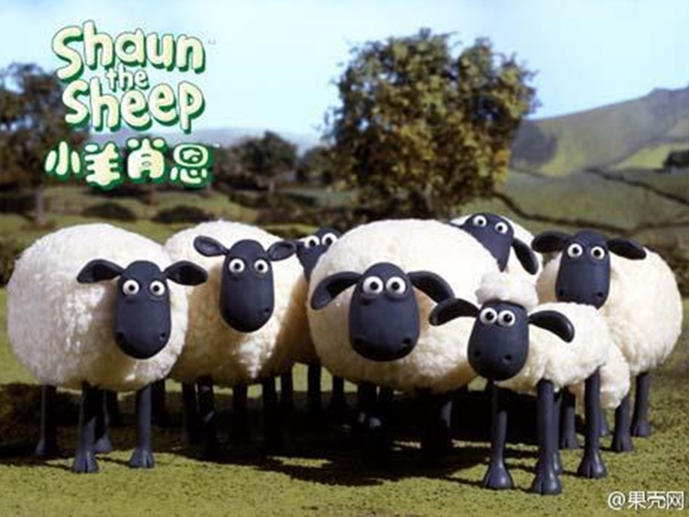 动画片中可爱的小羊肖恩