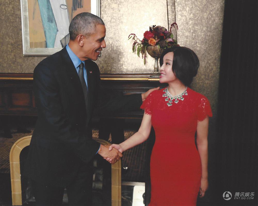半老徐娘刘晓庆晒白宫私照 奥巴马的眼神都直了