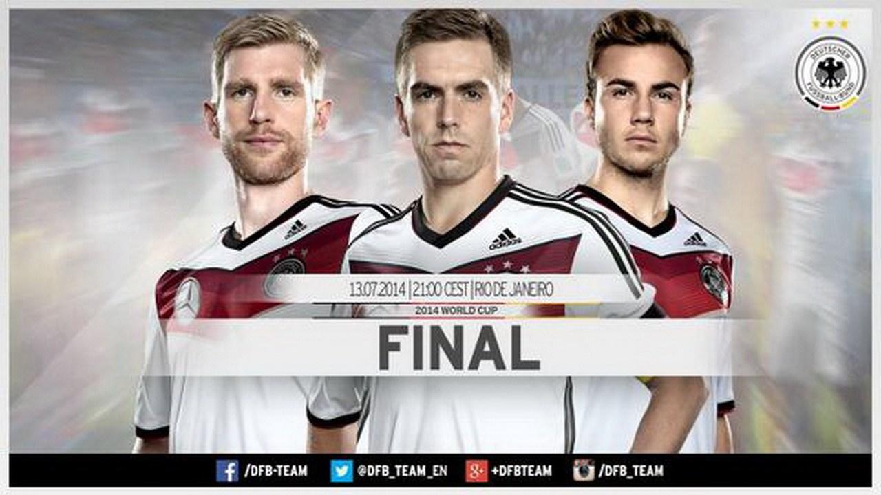 德国队发布决赛海报 霸气外露展现王者风范(组图)