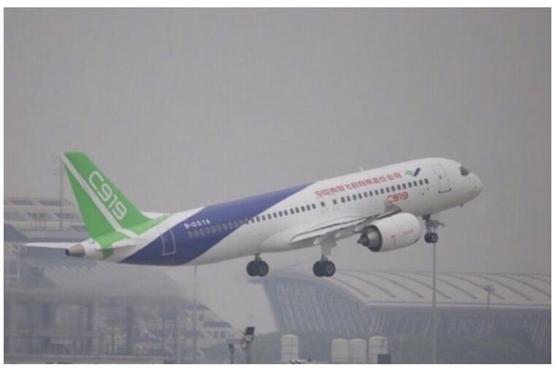 中国国产大飞机c919成功首飞 整体国产化率50%以上